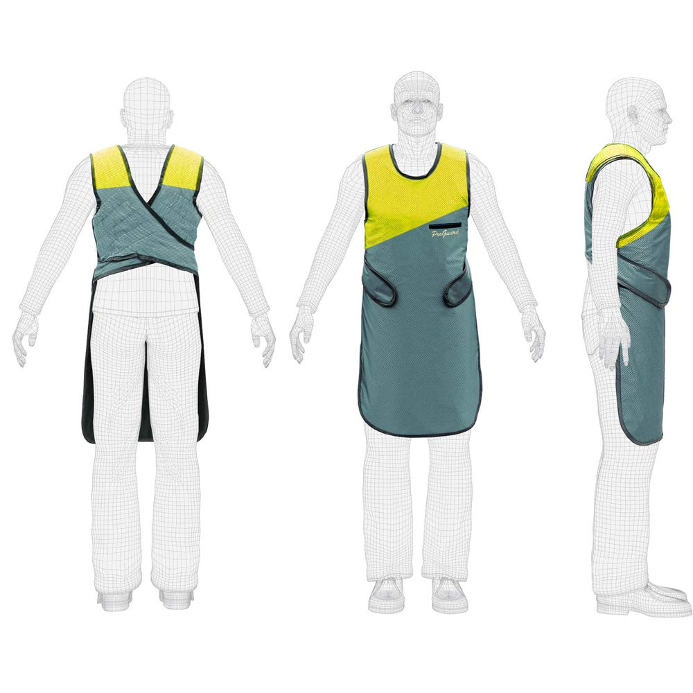 CE and FDA Approved X Ray Protection Lead Apron 0.5mm Lead Equivalent Yellow & Gray Color