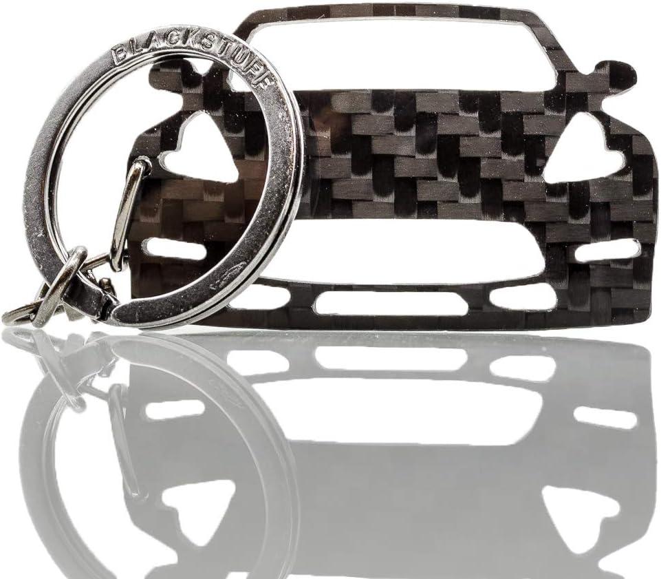 BlackStuff Llavero De Fibra De Carbono Cadena De Claves Compatible Con Nissan 370Z Z34 2008-2019 BS-647