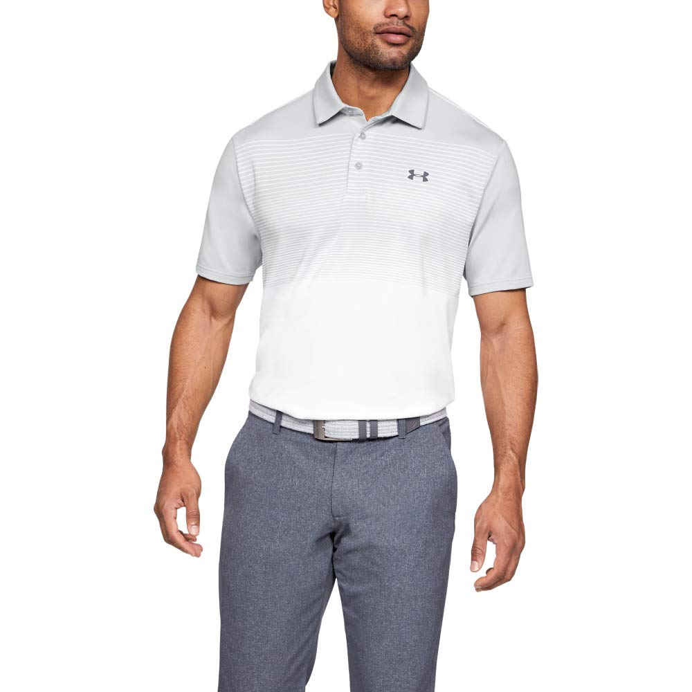 Under Armour Men's Playoff Golf Polo 2.0, Halo Gray/Pitch Gray, Medium by Under Armour