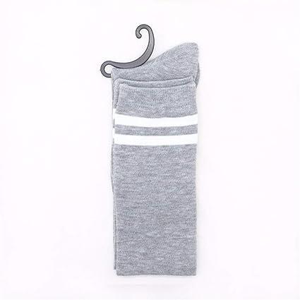 STFXSX Calcetines de Invierno. Rodilleras japonesas de Gran Elasticidad Sobre Calcetines Largos de algodón,