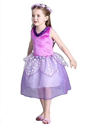 8b9c1faf8414 Amazon.com  Little Girl s Sequins Flower Fairy Princess Dress ...