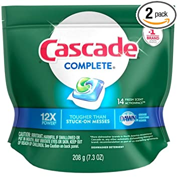 Amazon.com: Cascade completa PACS lavaplatos detergente ...