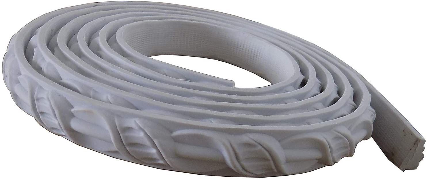 Zhangbl PVC Focal Point Flexible Moulding Wall Molding Trim Strip Frame Line Surface Home Decor 2.2cm(W) x115