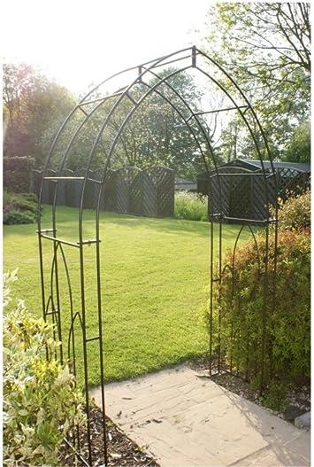 55 HGG - para dolores de Garden para escalada plantas y diseño de rosas - un arco de Metal jardín al aire libre diseño cilíndrico: Amazon.es: Jardín