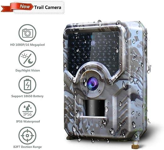 Cámara animal Cámara de caza Cámara de rastro Caza 16MP 1080P HD ...