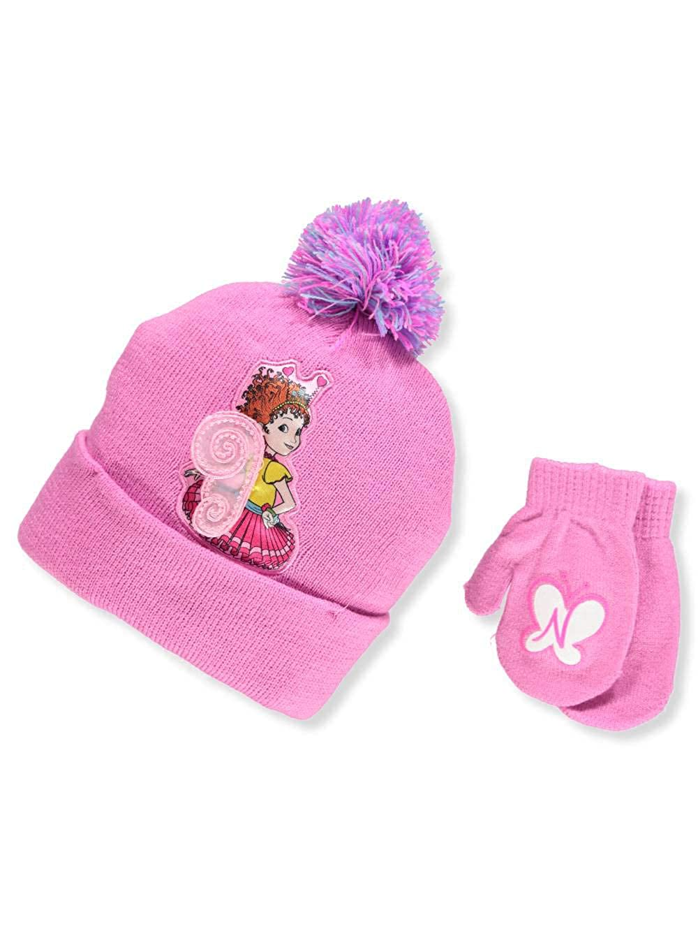 Fancy Nancy Girls Beanie Hat and Mittens Set Nickelodeon