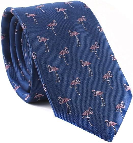 Corbata para hombre, diseño de flamenco, estilo retro: Amazon.es ...
