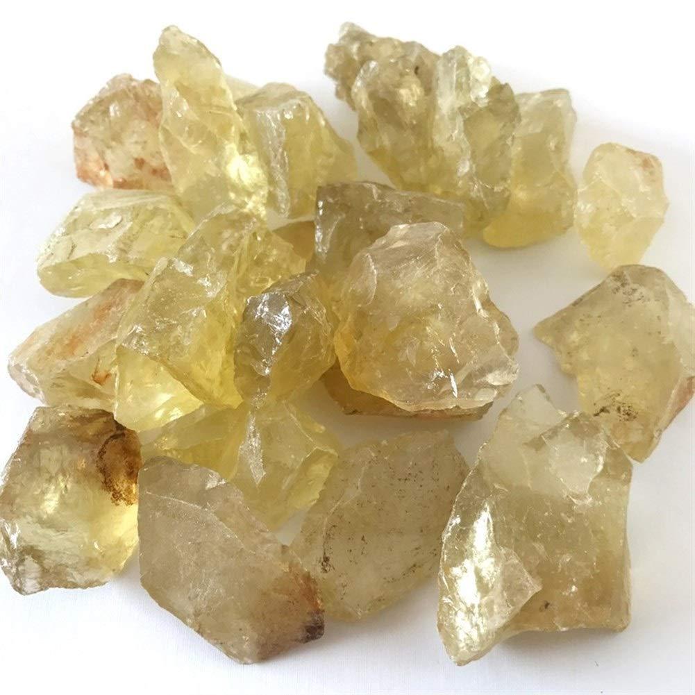 Ydfq Cristal de Quartz Citrine Naturel Brut 100g en Vrac Pierres brutes Cristal de Quartz Jaune Pierre Brute Sp/écimen en Pierre Naturelle