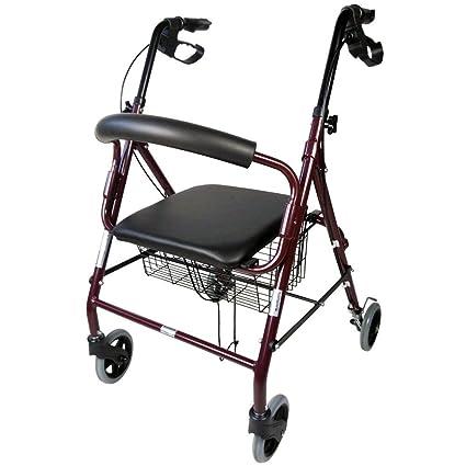Mobiclinic Andador para Ancianos de 4 Ruedas | Aluminio Ultraligero | Plegable | con Frenos de