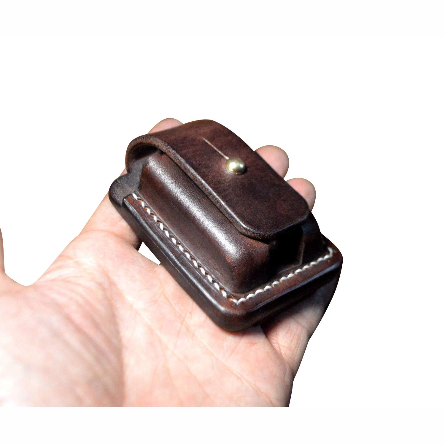 Hand Made Leather Protective Sleeve case Genuine Full Grain Cowhide Handcrafted Pouches Holder (Coffee)