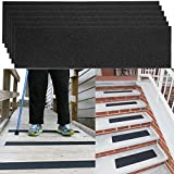 "6 Pack Non-Slip 24"" x 6"" Step Safety Treads Grip Tape for Skateboard Strips and Stairs Safety Adhesive Stair Treads for Kids, Elders and Pets, Prevents Slipping"