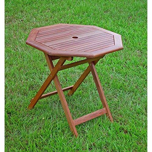Acacia Octagonal Folding Table