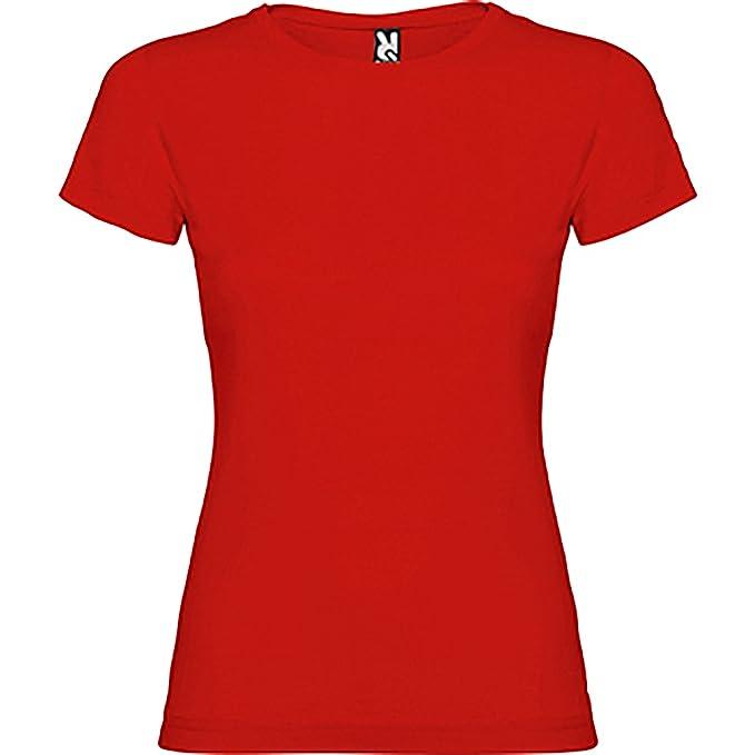 Camiseta de manga corta entallada, con cuello redondo -ROLY: Amazon.es: Ropa y accesorios