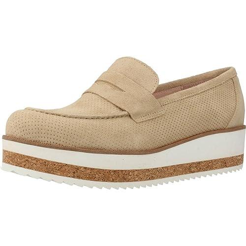 Mocasines para Mujer, Color Hueso, Marca YELLOW, Modelo Mocasines para Mujer YELLOW Cuarzo Hueso: Amazon.es: Zapatos y complementos