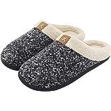ULTRAIDEAS Men's Cozy Fuzzy Wool-Like Plush Fleece Memory Foam Slip-on Clog Winter House Shoes