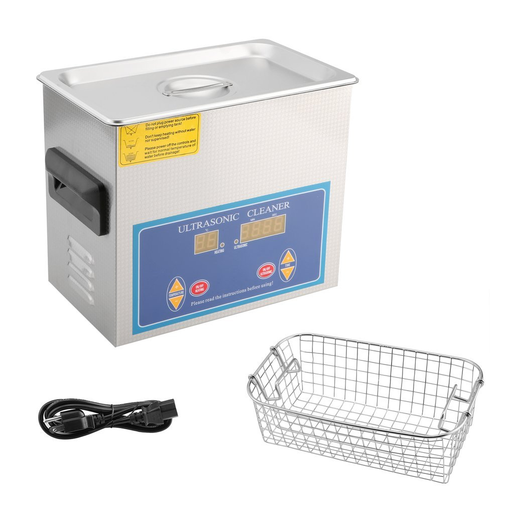 Ultrasonic Cleaner Commercial and Jewelry Ultrasonic Cleaner with Heater and Digital Control (1.3 L)