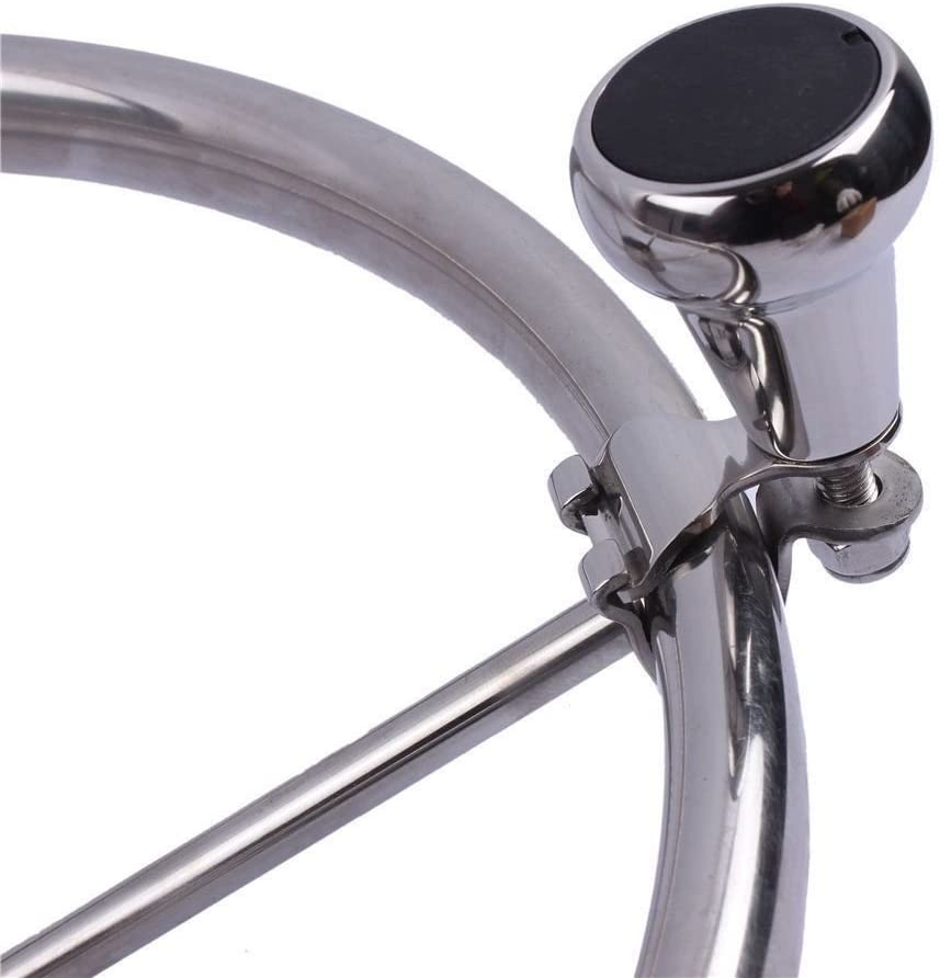 316 Stainless Steel Marine Sport Boat Steering Wheel Knob 5//8 to 1-Large Coolso .