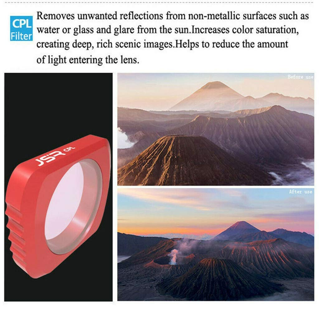 Camera Filter For DJI OSMO Pocket 3 in1 CR Wide Angle + 12.5X + CPL PTZ Camera 3pc Lens Filters Aluminum-alloy Helicopter Accessories (red) by lkoezi- Camera Filter (Image #5)
