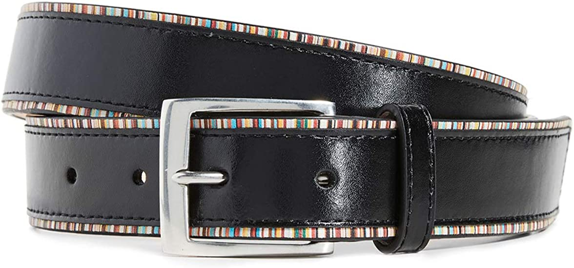 BNWT Black /& Signature Multi Stripe Reversible Kit Paul Smith Belt Cut-To-Fit