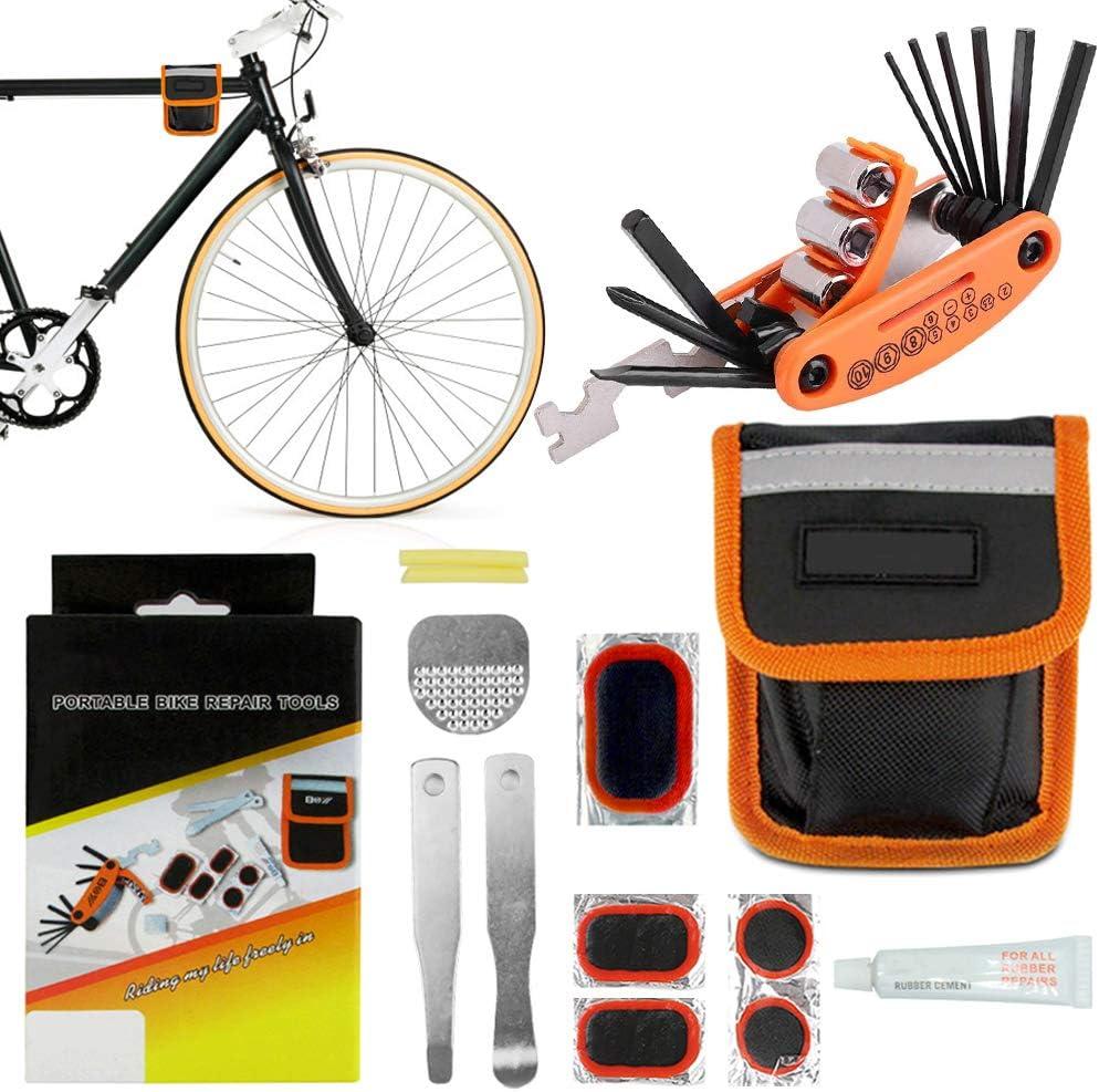 MTB Bicycle Repair Tools Portable Bike Tire Repair Bag Kit Cycling Road Tool Kit