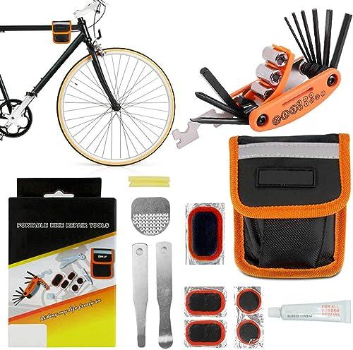 Bike Repair Tool Kit with Car Multitool Box Wrench, Screwdriver