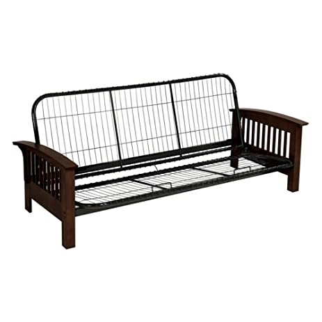 serta monaco futon frame full dark walnut amazon    serta monaco futon frame full dark walnut  kitchen      rh   amazon