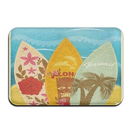 Tabla de surf de playa hawaiana en arena, alfombrilla antideslizante para verano, vacaciones,