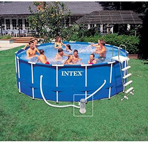 Paris Prix Kit Piscina Redonda Tubular 457 x 222 cm Azul: Amazon ...