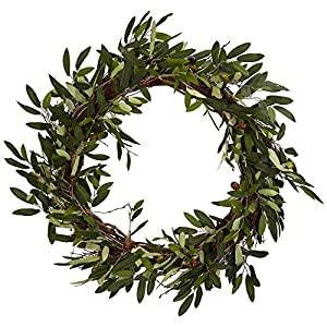 Nearly Natural 20 in. Olive Wreath 12