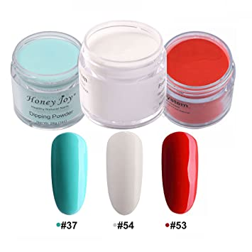 3pcs 28g/Box Multi Colorful Dipping Powder Without Lamp Cure Nails Dip  Powder Summer Gel Nail Color