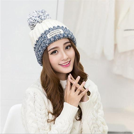 Sombreros de invierno para mujer - YOPINDO Bobble sombrero para ...