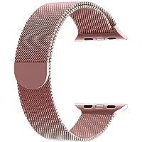 Apple Watch için Rose Gold 38 MM Mıknatıslı Kayış Kordon Milanese Loop Markacase