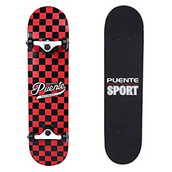 PUENTE Skateboards for Adults and Kids Beginners, ABEC-9 BBS, 95A Anti-Slip  Smooth and Mute Wheel Skateboard