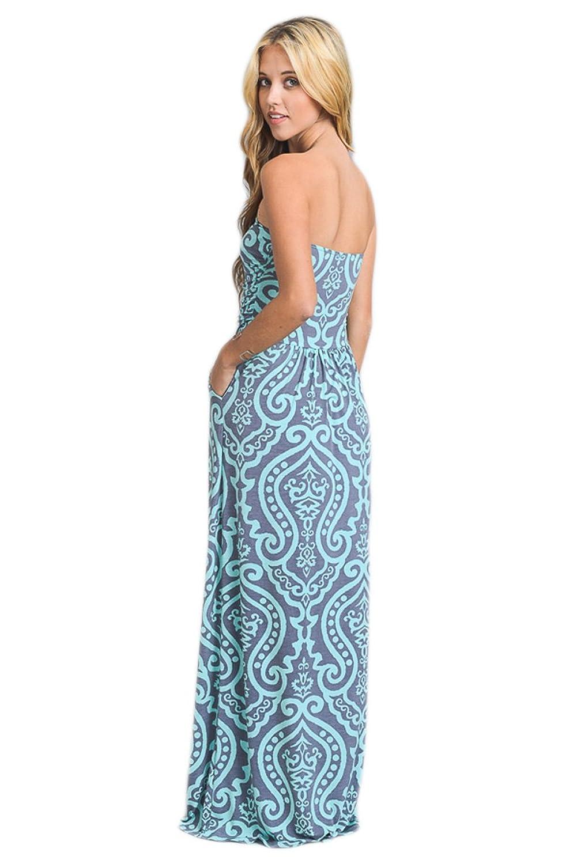 Vanilla Bay Baroque Maxi Dress at Amazon Women\'s Clothing store:
