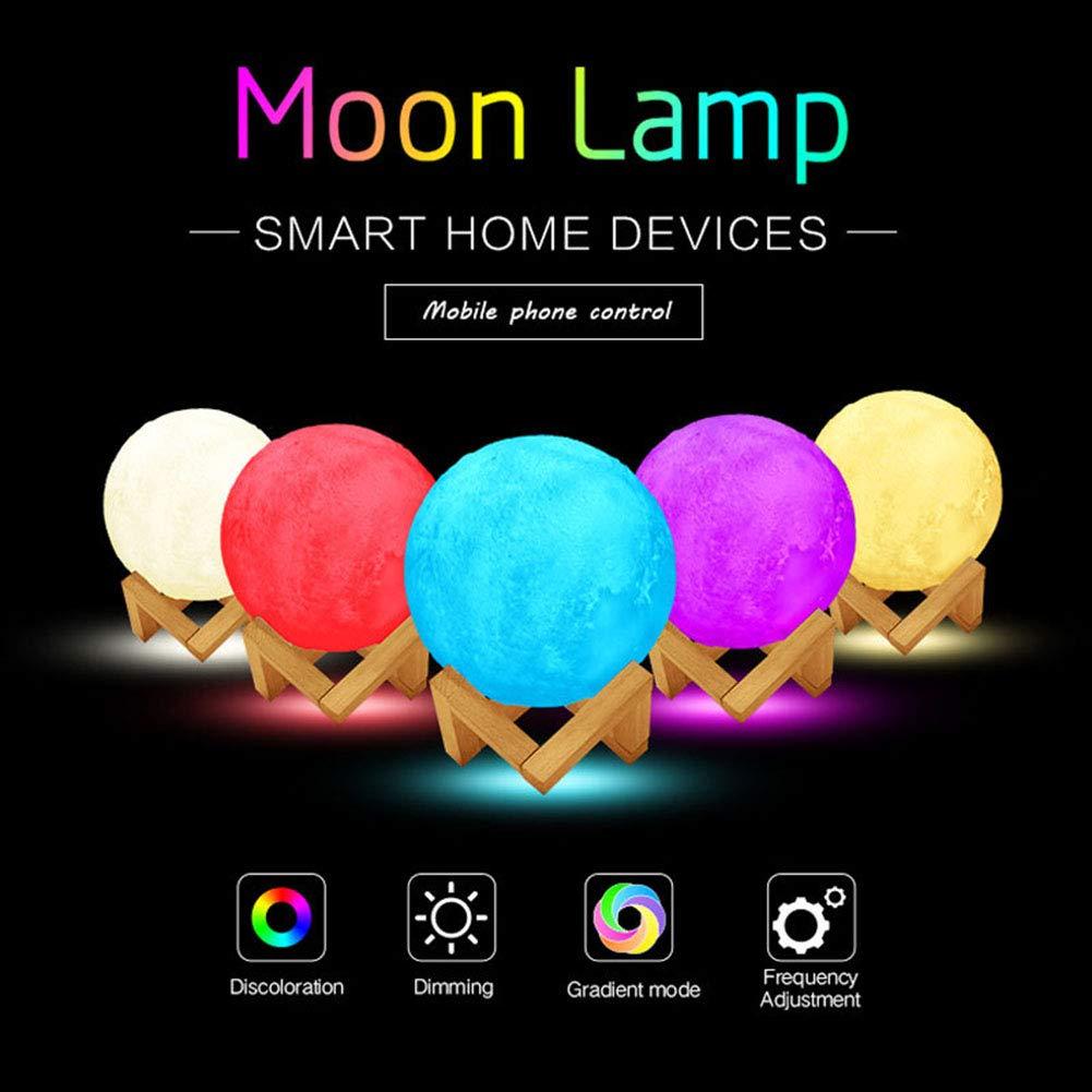 LED WiFi 3D Smart Tätschelte Touch Bunten Nacht Mond Nachtlicht,Farbe