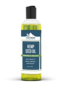 Hemp Seed Oil, 16 OZ by Earthborn Elements, High in Vitamins & Fatty Acids, Boost Immunity, Improve Mood & Relieve Stress, Nourish Hair & Strengthen Skin, Comes in a Convenient Dropper Cap Bottle