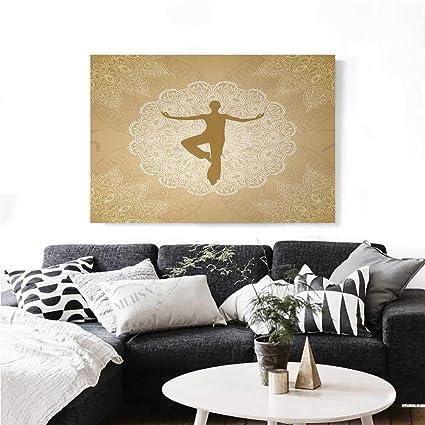 Amazon Com Yoga Canvas Wall Art Authentic Mandala Inspired