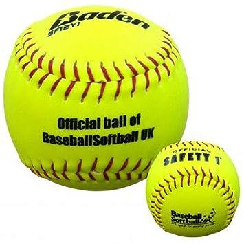 Baden sf12y Softball Sports reproductor de pelotas de Hi Vis BSF ...