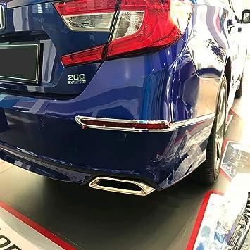 Kadore ABS Chrome Rear Outer Fog Lights Lamp Cover Trim for Honda Accord 2018 2019 Sedan 10th Generation 2-pc