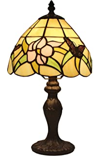 Tiffany style small arielle accent lamp table lamps amazon amora lighting tiffany style am044tl08 145 inch floral mini table lamp aloadofball Gallery