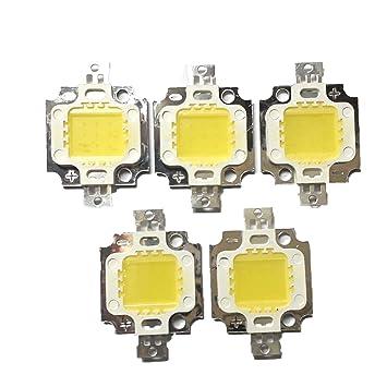BMES 5Pcs 5W DC9-12V White High Power LED SMD Bead Chips Bulb Light Lamp LED Bulbs at amazon