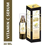 Aegte 24K Gold Vitamin C Serum (with Collagen Booster) Enriched with Vitamin E, Collagen, Rose Extract - 30 ml / 1 fl. Oz