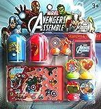 Toys ! Stamper Inkpad Card Set and Sticer Marvel Avengers Assemble