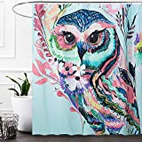 Owl Shower Curtain Grace Duet Fabric Shower Curtains Liners Waterproof Stall Shower Curtains for Bathroom,Printing Bath Curtains 72 x 72 inches (Owl)