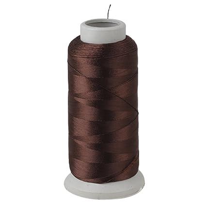 BQLZR 0,3 mm hilo de coser de nailon de café 1500 Patio carretes mano