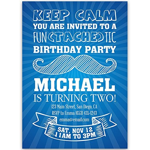 Amazon keep calm mustache birthday party invitations handmade keep calm mustache birthday party invitations filmwisefo