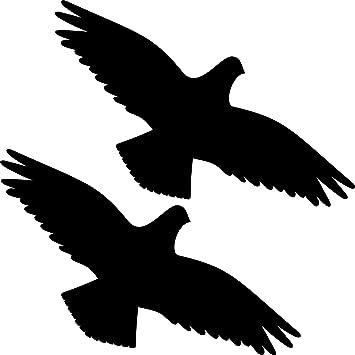 Aufkleber 35cm schwarz Habicht Vogel Fensterfolie Tattoo Warnvögel Vogelschutz