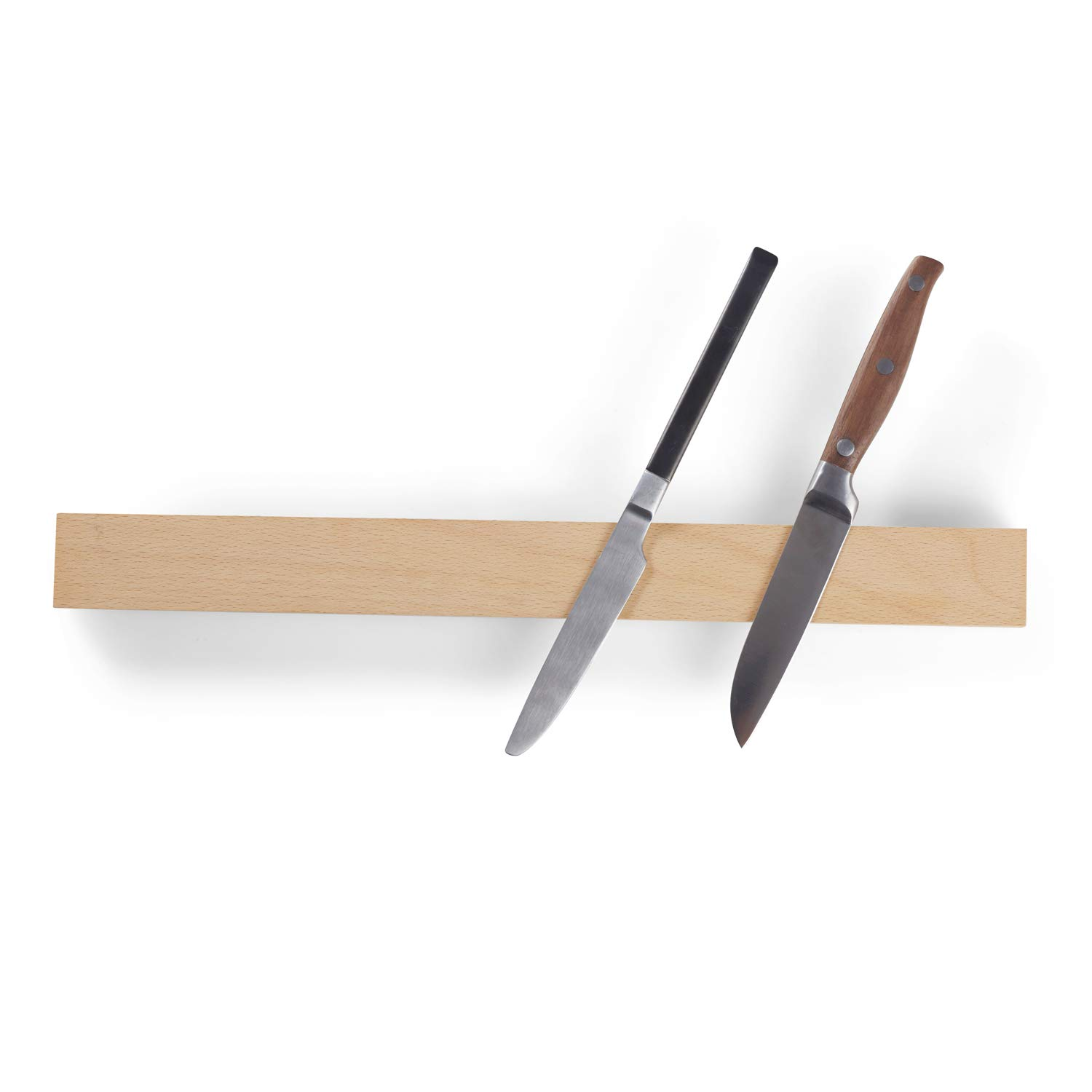 Beechwood Magnetic Knife Strip Adhensive Mount, 15 Inch Wooden Knife Holder Rack, Great for Organizing Kitchen or Mental Tools by FengChuang