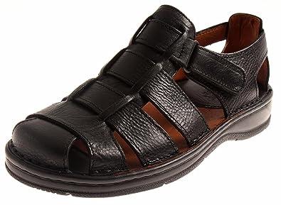 Herren Jr Leicht Bequem Sommerschuhe Leder Shoes Sandalen Comfort TF31clKJ