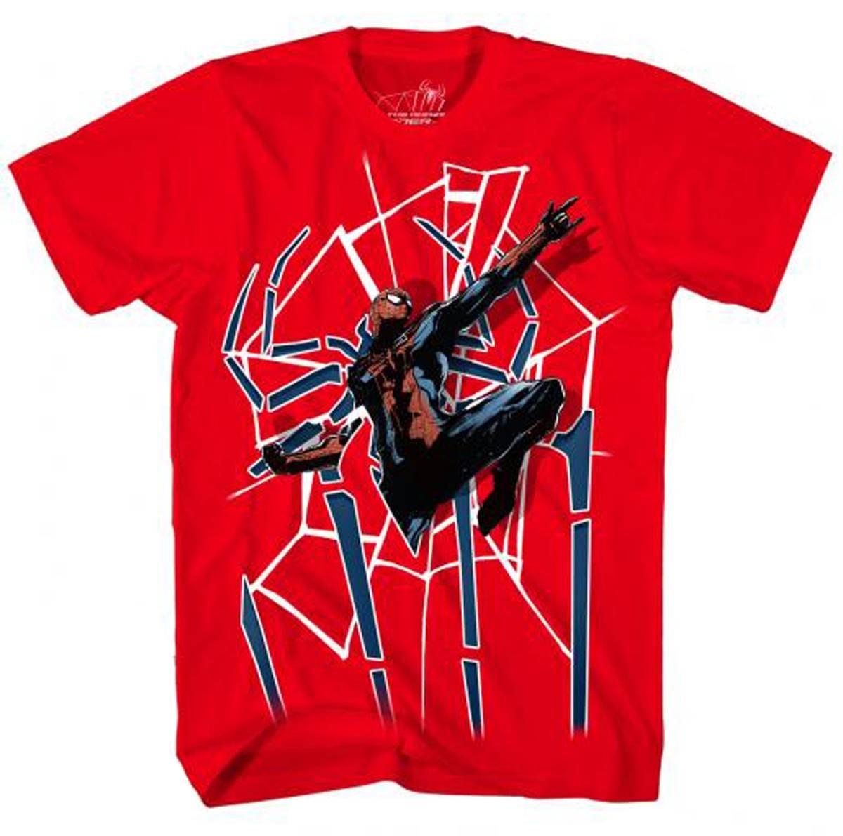 Amazing Spiderman Spider Door Red Shirts